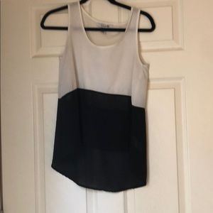 White and black tank top
